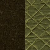 Silk Velvet Quilted Bottle Green (66)