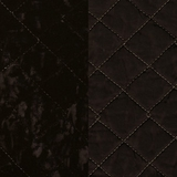 Silk Velvet Quilted Ebony (63)