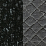 Silk Velvet Quilted French Grey (71)