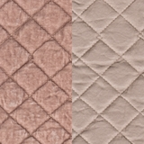 Silk Velvet Quilted Heirloom Rose (72)
