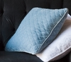 Silk Velvet Quilted Square Throw Pillow