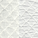Silk Velvet Quilted White (01)