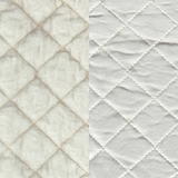 Silk Velvet Quilted Winter White (73)