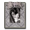 Silver Brocade Flannel Picture Frame