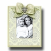 Silver Brocade Leaf Picture Frame