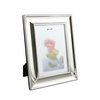 Silver Plated Beaded Rim Engraved Picture Frame - 5 x 7 Inches