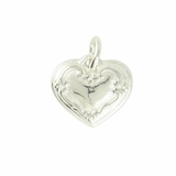 Silver Plated Heart Charm CN216 $(+14.00)