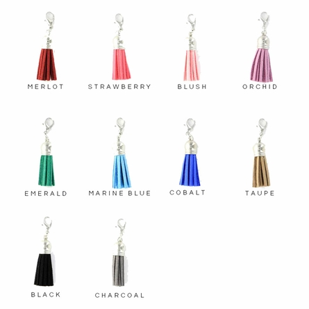 Silver-Plated Toggle Monogram Pendant Necklace with Tassel