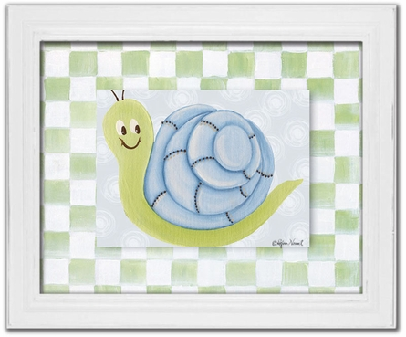 Simon Snail Personalized Framed Canvas Reproduction
