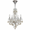 Simone Five Light Cognac Crystal Mini-Chandelier