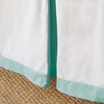 Simplified Crib Skirt in Aqua