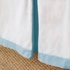 Simplified Crib Skirt in Blue