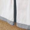 Simplified Crib Skirt in Grey