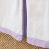 Simplified Crib Skirt in Lilac