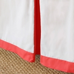 Simplified Crib Skirt in Red