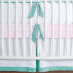 Simplified Nursery Crib Bedding Set in Aqua