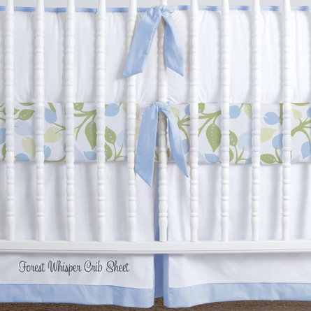 Simplified Nursery Crib Bedding Set in Blue