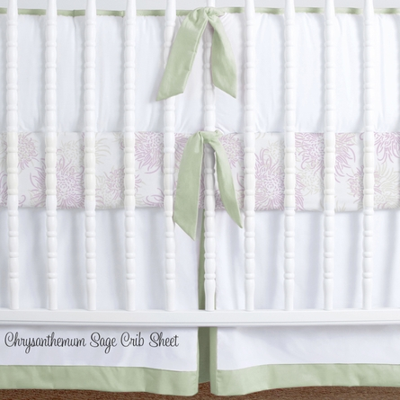 Simplified Nursery Crib Bedding Set in Celery