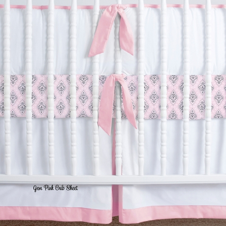 Simplified Nursery Crib Bedding Set in Coral
