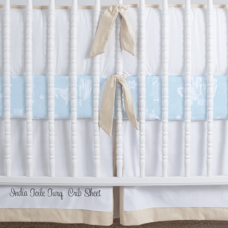 Simplified Nursery Crib Bedding Set in Cr�me