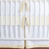Simplified Nursery Crib Bedding Set in Cream
