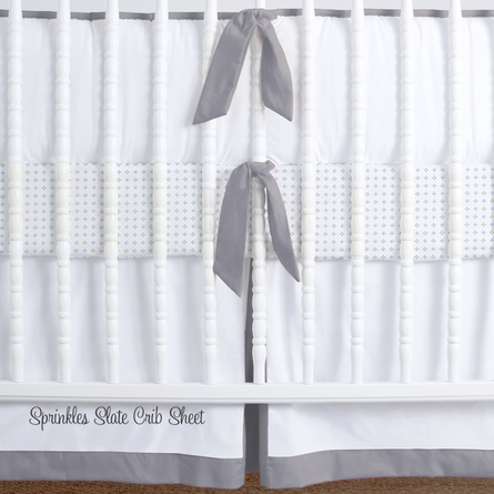 Simplified Nursery Crib Bedding Set in Grey