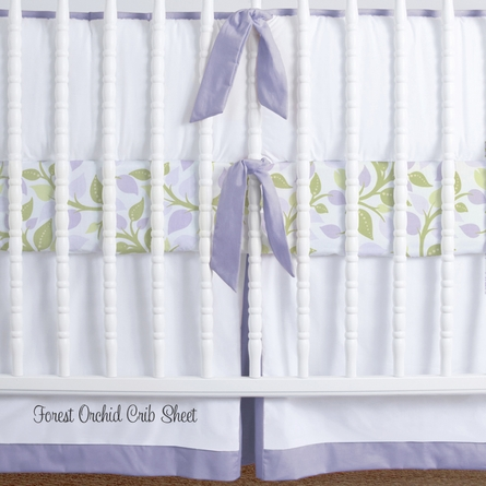 Simplified Nursery Crib Bedding Set in Lilac