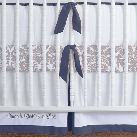 Simplified Nursery Crib Bedding Set in Navy