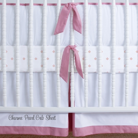 Simplified Nursery Crib Bedding Set in Pink
