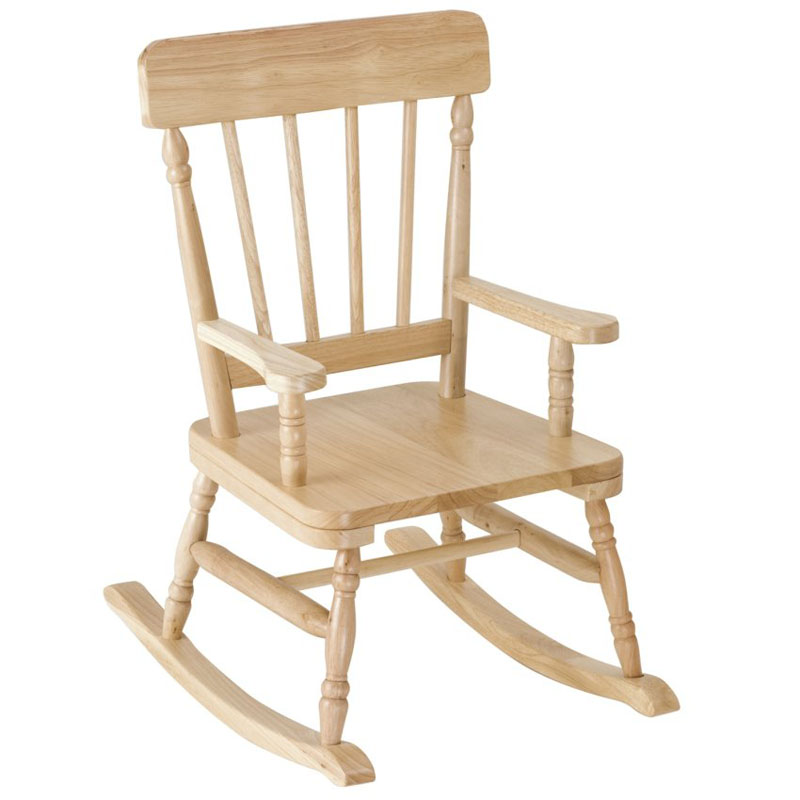 simply classic rocking chair in oak finish by levels of