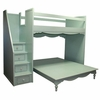 Simply Elegant Fantasy Full over Queen Bunk Bed