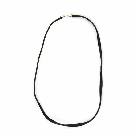 Single Strand Black Nylon Necklace