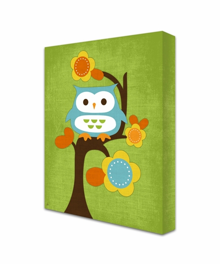 Sitting Pretty Owl Canvas Reproduction