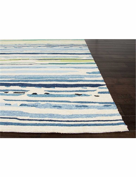 Sketchy Lines Rug in Blue