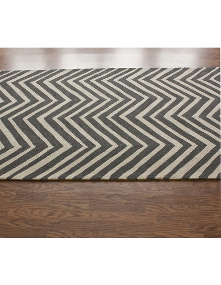 Skinny Chevron Rug in Charcoal