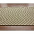 Skinny Chevron Rug in Green