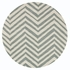 Skinny Chevron Rug in Light Blue
