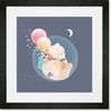 Sky Bear Framed Art Print