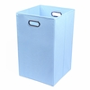 Sky Blue Canvas Laundry Bin