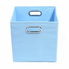 Sky Blue Canvas Storage Bin