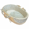 Sky Blue Pebbles Moses Basket