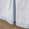 Sky Windowpane Bed Skirt