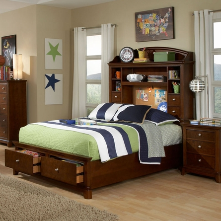Skylar Bookcase Bed with Storage