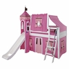 Wow Low Loft Bed with Hot Pink Castle Tent