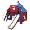 Skylar Low Loft Bed with Primary Castle Tent