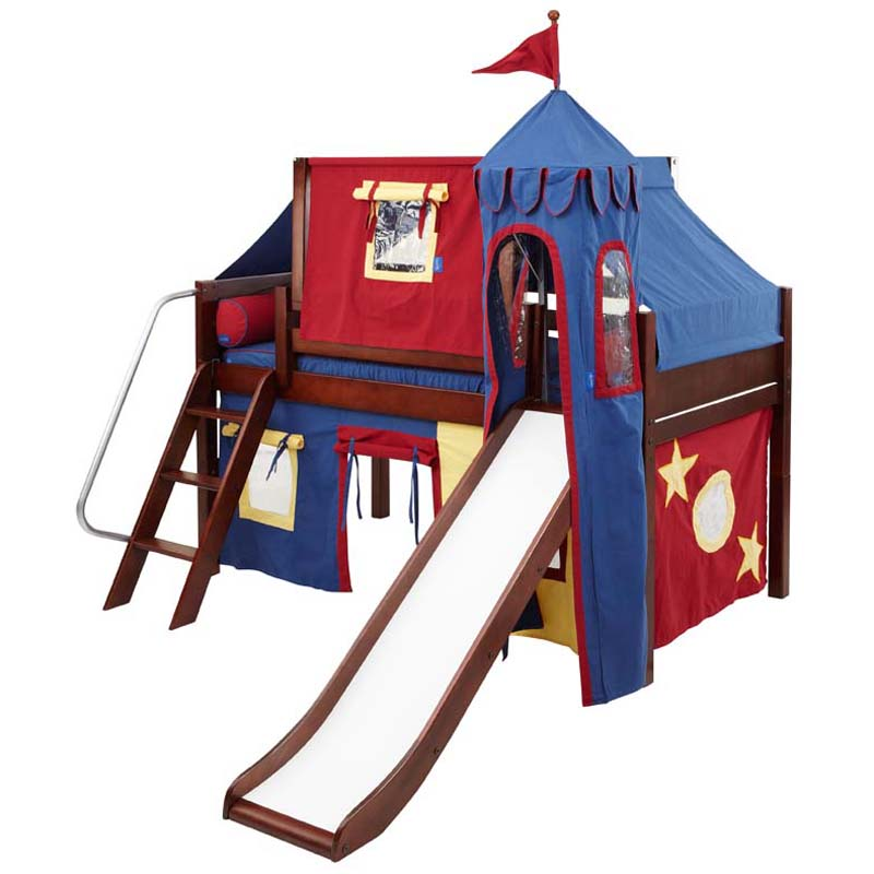 Red Blue Kid Bed with Slide 800 x 800