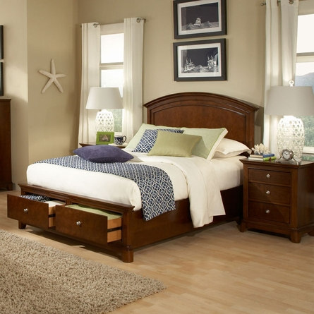 Skylar Panel Bed with Storage