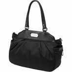 On Sale Skyline Satchel Diaper Bag- Black Chai Tea Cake