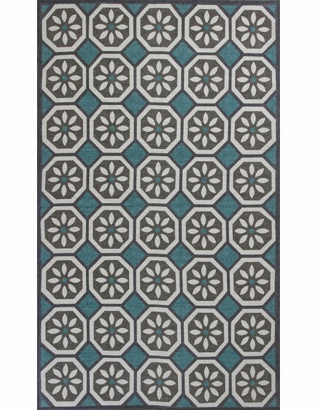 Slate and Blue Tertulia Reversible Rug