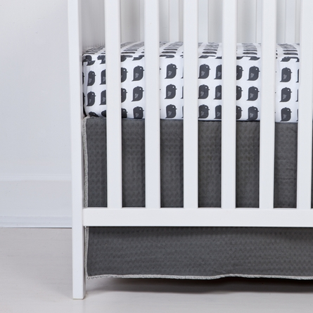 Slate Bird Fitted Organic Crib Sheet
